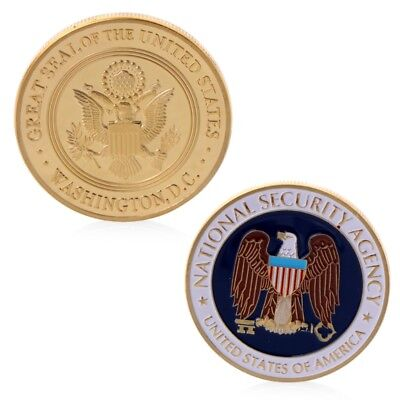 National Security Agency Commemorative Challenge Coin Collection Art Golden