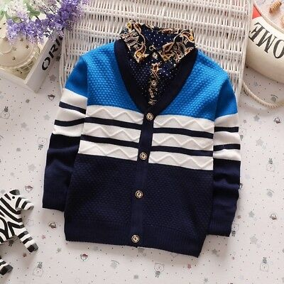 BibiCola  Boys Christmas Sweater Cardigan Knitted Children Sweaters Clothes