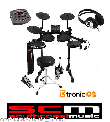 Dtronic Edq2P Electronic Digital Drumkit D-Tronic Kit Stool Sticks Headphones