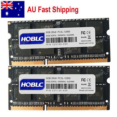 AU 16GB 2x8GB PC3L-12800 DDR3L-1600 SODIMM Memory For MacBook Pro Imac Mac Mini