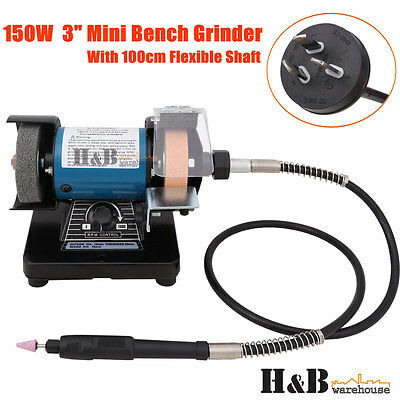 "150W  3"" Mini Bench Grinder 1 M Flxible Shaft 1/8"" Collet Buffer Polisher T0311"