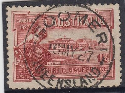 Stamp Australia Parliament House Canberra 1927 commemorative stamp GOOMERI
