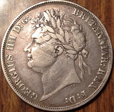1821 Uk Gb Great Britain Silver Crown A Beautiful Example !
