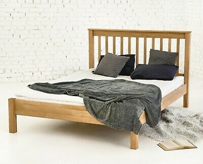 Top quality Rennes Solid Oak Bed Frame Wooden Double King Size or Super King