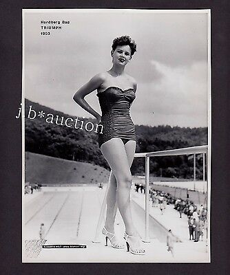 Mode WOMAN IN SWIMSUIT FRAU IM BADEANZUG Fashion * Vintage 50s SEUFERT Photo #4