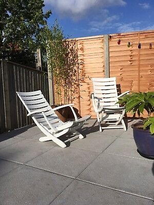 Triconfort Recliner Mid Century Riviera Pool Chairs 1960s outdoor garden cusions