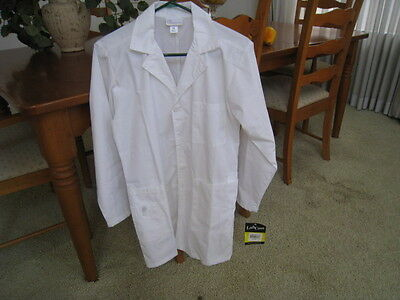 Women's Wonder Wink White Lab Coat Scrubs Nursing Cosmetology Smock New Size XS