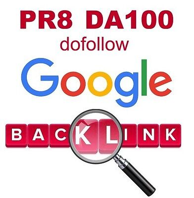 Google Backlink dofollow DA100 PA84 to your website