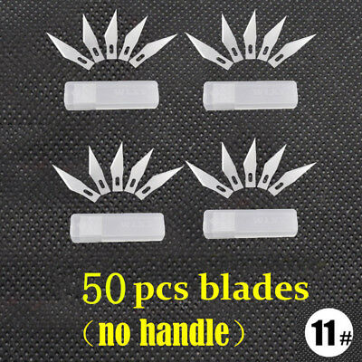 50 Pcs #11 Blades For X-acto Exacto Knife Graver Hobby Style Multi Tool Crafts