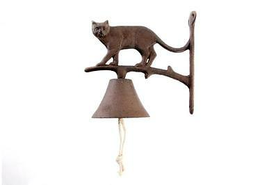 Bell Wall Cast Iron Bell Entrance Shaped Like Cat