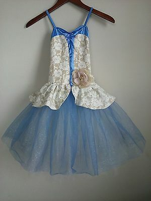 Weissman Girls MC Blue Periwinkle Ballet Dance Costume