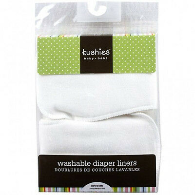 Kushies Washable Reusable Diaper Liners - 10 Pack | Ideal for Heavy Wetters