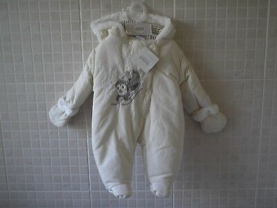 Baby Boy Girls clothes Snowsuit All in One coat Cream 0-3 months Little-Miracles