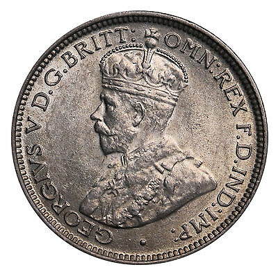 1919 British West Africa Sixpence Silver 6 Pence George V Coin KM# 11 UNC +Lustr