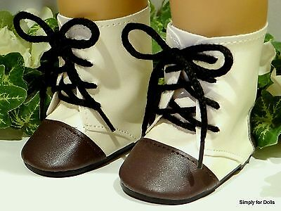 "Two-Toned TAN Historical DOLL BOOTS SHOES fits 18"" AMERICAN GIRL Doll Clothes"