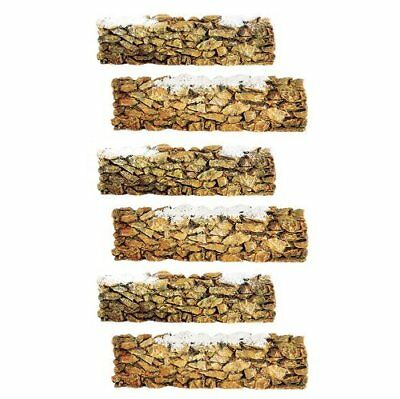Department 56 Village Stone Wall, Resin, Set of 6
