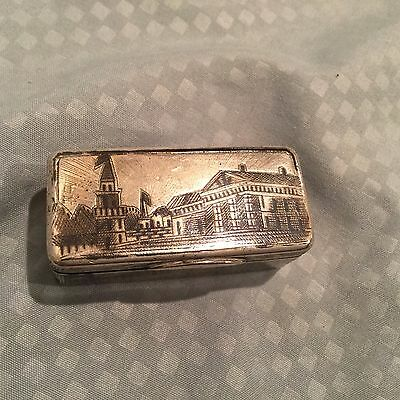 Antique 19th C. Vasily Aleksandrovich Petrov Russian Sterling Silver Snuff Box