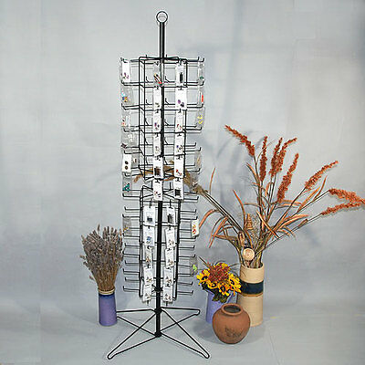 """Metal Rotating Earring Rack Wire Jewelry Display Stand Peg Hooks 24"""" x 63 1/2""""H"""