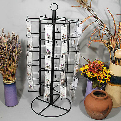 """Metal Rotating Earring Rack Wire Jewelry Display Stand w Peg Hooks 28 1/4""""H"""