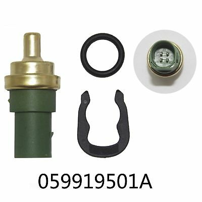 Audi Water Coolant Temperature Gauge Sensor 059919501A Temp Sender Clip & O ring