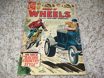 World of Wheels #18 (Charlton, 1967) – Drag-Strip Hotrodders – Ken King – FN