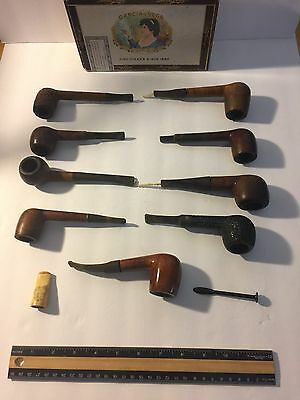 Lot of 9 vintage smoking pipes with accessories • $45.00