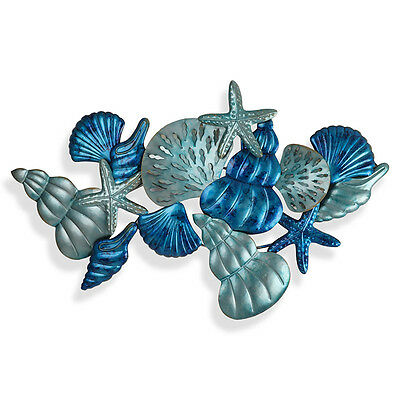 All Things By The Sea Metal Wall Art Hanging Sculpture Big 104 cm Coastal Decor