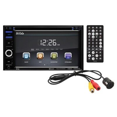 """Boss BVB9364RC Double-DIN DVD Player 6.2"""" Touchscreen Blue with Rear Camera"""