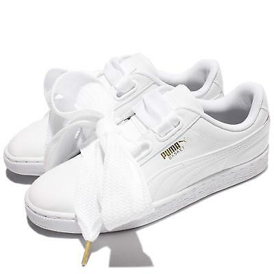 low priced cb46a 1be82 PUMA BASKET HEART Patent Wns Leather White Women Shoes Sneakers 363073-02