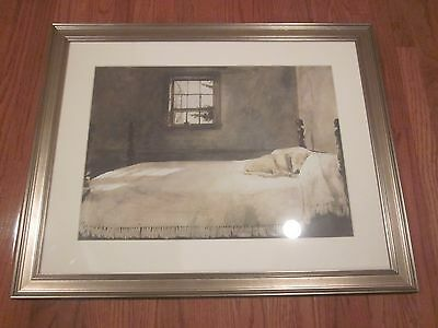 """* BEAUTIFUL FRAMED AND MATTED DOG PRINT - 28 x 35"""" *"""