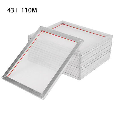 "12 Pack 18"" x22"" Aluminum Silk Screen Printing Press Frame Screens 110 Mesh"