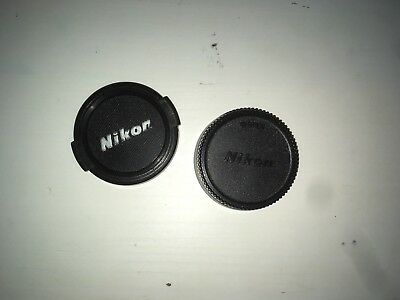 Genuine Nikon Front and Rear Lens Caps