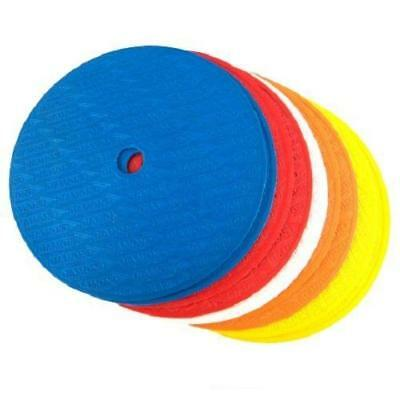 Diamond Multi Coloured Football Flat Markers | Round | Pack of 10 Mixed Colours