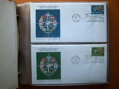 United Nations Commemorative First Day Cover Collection 1976-1981 In Album