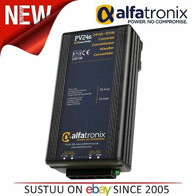 Alfatronix PowerVerter PV24S 24VDC to 12VDC Converter - Isolated - 24A / 30A NEW