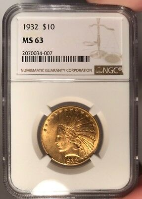 1932 $10 NGC MS 63 Indian Head Gold Eagle