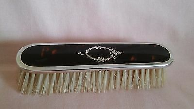 Vintage Art Deco Silver Inlaid Brush Dated Birmingham 1925 In Good Vintage Cond.