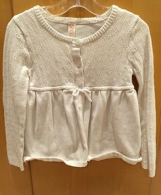 5T girl's white sweater, by Cherokee  gathered in front and back