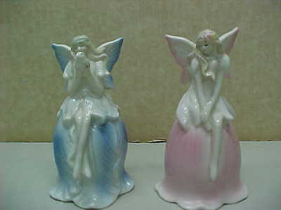 Pair Of Ceramic Fairy Bells