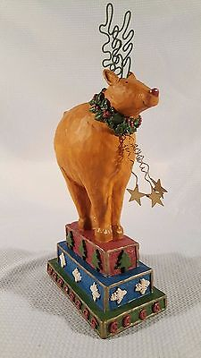 "Vintage Reindeer Christmas Holiday Figure ~ Foreside Home & Garden ~ 13"" Tall"