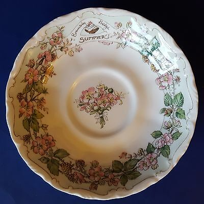 "Royal Doulton Brambly Hedge ""Summer"" Bone China 5-1/2"" Saucer Replacement. 1983"