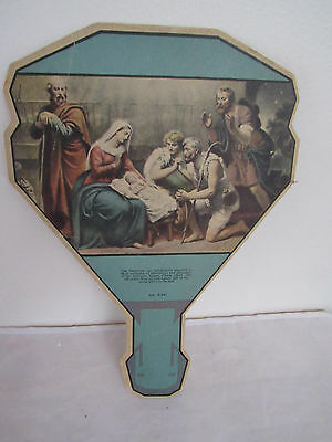 Vintage Cardboard Litho Advertising Fan -The Shephards-Keatley & Nepper