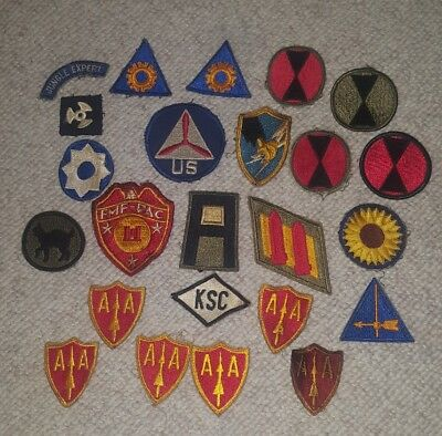 Lot of WW2 US Army and Marine Division Patches. Some Rare • $49.95