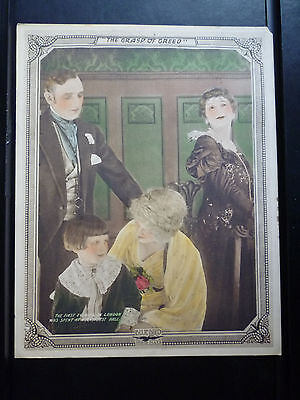 1916 Grasp Of Greed - Rare Vertical Lobby Card - Lon Chaney Silent - H R Haggard