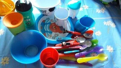 Baby Weaning Cups, Bowls And Cutlery Bundle
