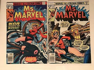 Ms Marvel 16 And 17 / 1st , 2nd Mystique Cameos