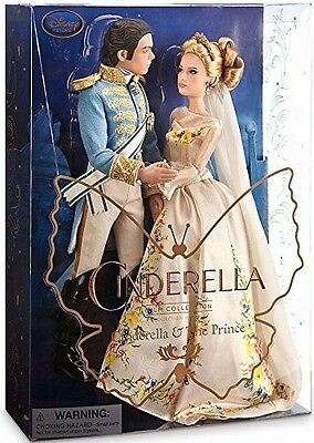 Disney Store Cinderella And Prince Live Action Doll Set Brand New In Box