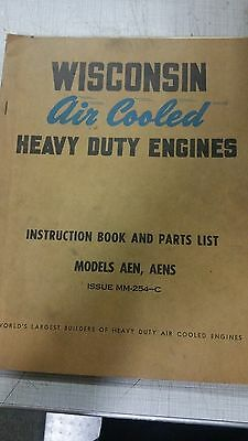 Wisconsin Air Cooled Heavy Duty Engines, Models Aen Aens, Issue Mm-254-C