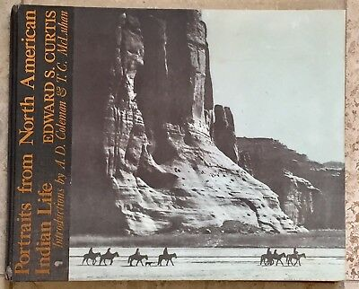 EDWARD S. CURTIS Portraits - North American Indian Life - Large Folio Book 1972