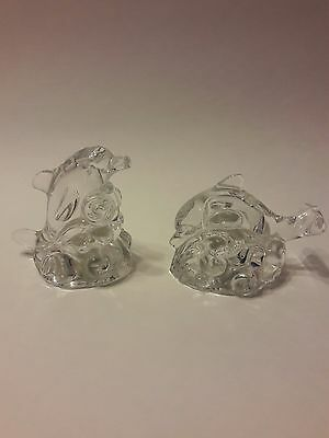 LENOX Crystal Dolphin Salt & Pepper Shakers Figurines Dolphins